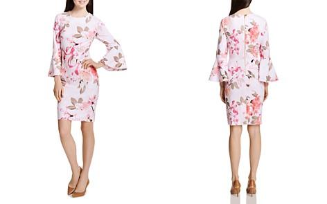 Calvin Klein Floral-Print Bell-Sleeve Dress - Bloomingdale's_2