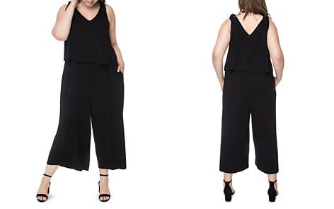 B Collection by Bobeau Curvy Tie-Shoulder Wide-Leg Jumpsuit - Bloomingdale's_2
