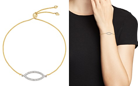 Bloomingdale's Diamond Bolo Bracelet in 14K White & Yellow Gold, 0.25 ct. t.w. - 100% Exclusive _2