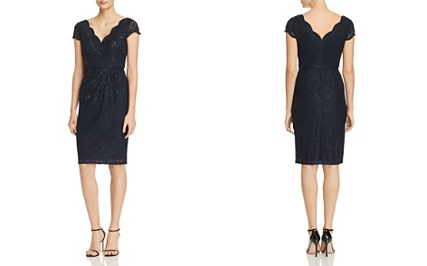 Adrianna Papell Embellished Lace Cocktail Dress - Bloomingdale's_2