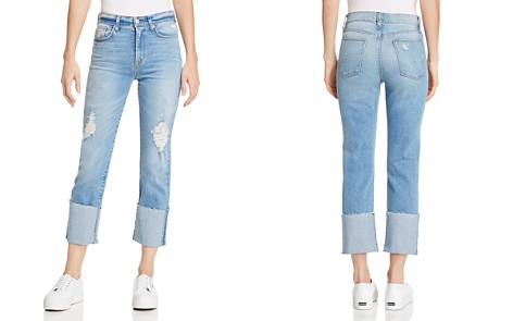 Hudson Zoeey High Rise Deep Cuff Straight Jeans in Better Half - Bloomingdale's_2