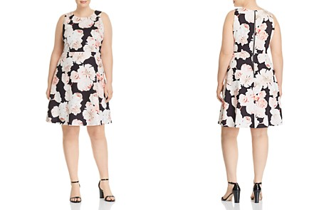 Adrianna Papell Plus Floral-Print Fit-and-Flare Dress - Bloomingdale's_2