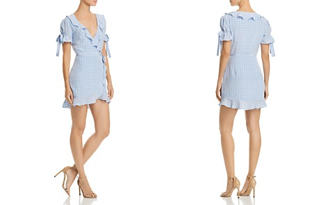 For Love & Lemons Sweetheart Mini Wrap Dress - Bloomingdale's_2
