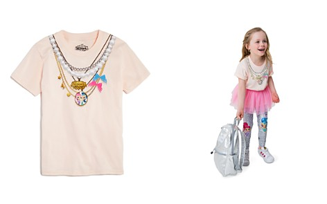 Junk Food x Nickelodeon Girls' Shimmer and Shine© Necklace Tee, Little Kid - 100% Exclusive - Bloomingdale's_2