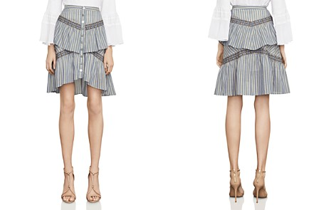 BCBGMAXAZRIA Tiered Striped Skirt - Bloomingdale's_2