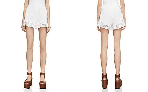 BCBGMAXAZRIA Janel Eyelet Shorts - Bloomingdale's_2