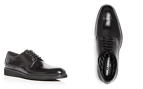 KARL LAGERFELD Men's Leather Plain Toe Oxfords - Bloomingdale's_2