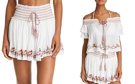 Surf Gypsy Embroidered Mini Skirt Swim Cover-Up - Bloomingdale's_2