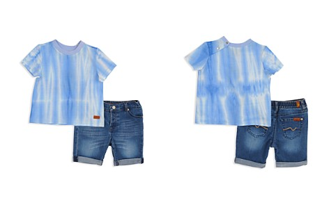 7 For All Mankind Boys' Tie-Dye Tee & Denim Shorts Set - Baby - Bloomingdale's_2