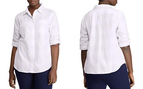 Lauren Ralph Lauren Plus Tonal Plaid Shirt - Bloomingdale's_2