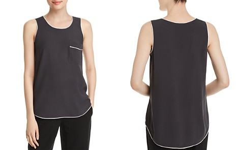Eileen Fisher Piped Silk Tank - Bloomingdale's_2