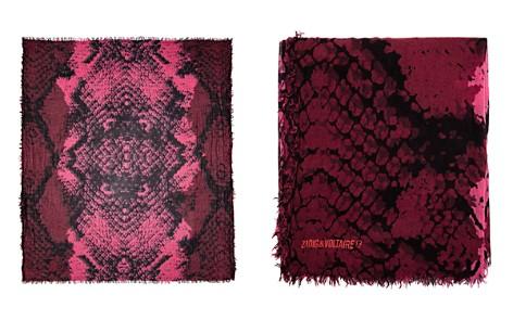Zadig & Voltaire Delta Wild Snake Print Scarf - Bloomingdale's_2