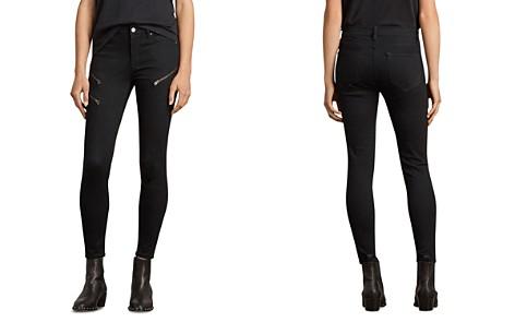 ALLSAINTS Grace Zip Detail Ankle Skinny Jeans in Black - Bloomingdale's_2