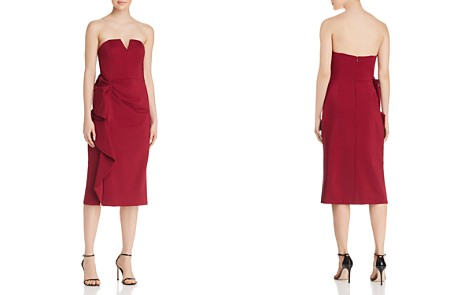 Aidan Mattox Strapless Ruffle-Trimmed Dress - 100% Exclusive - Bloomingdale's_2