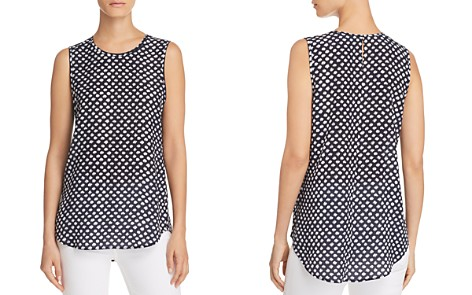 Theory Bringam Printed Silk Top - Bloomingdale's_2