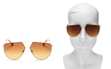 Chloé Women's Ricky Triple Bridge Gradient Aviator Sunglasses, 62mm - Bloomingdale's_2