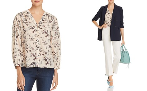 Rebecca Taylor Sofia Floral V-Neck Top - Bloomingdale's_2