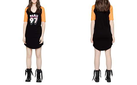 Zadig & Voltaire Rachelle Graphic Color-Block Dress - Bloomingdale's_2