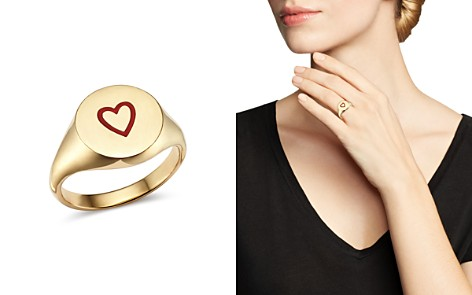 SUEL 14K Yellow Gold Heart Pinky Signet Ring - Bloomingdale's_2