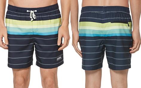 Original Penguin Engineered Stripe Swim Trunks - Bloomingdale's_2