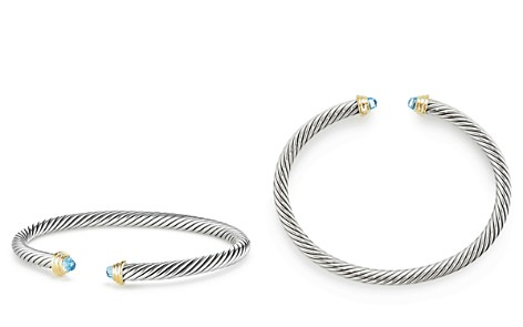 David Yurman Cable Kids Birthstone Bracelet with Blue Topaz & 14K Gold - Bloomingdale's_2