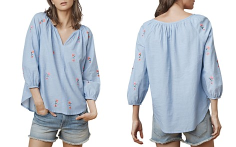 Velvet by Graham & Spencer Martha Embroidered Top - Bloomingdale's_2