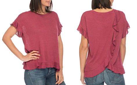 B Collection by Bobeau Abella Ruffle-Trim Tee - Bloomingdale's_2
