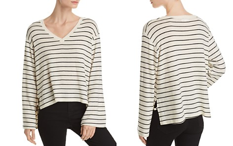 LNA Lilia Side-Vent Striped Sweater - Bloomingdale's_2