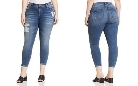 SLINK Jeans Plus Distressed Skinny Ankle Jeans in Annie - Bloomingdale's_2