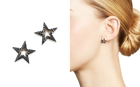 Bloomingdale's Black Diamond Star Stud Earrings in 14K Yellow Gold, 0.33 ct. t.w. - 100% Exclusive _2