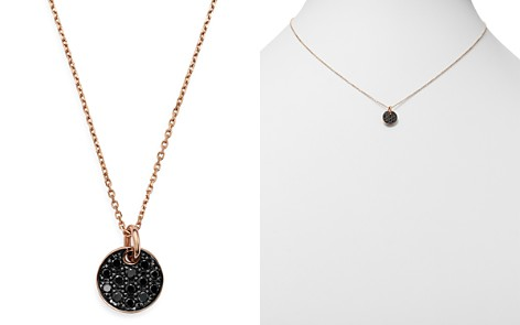Bloomingdale's Black Diamond Pavé Circle Pendant Necklace in 14K Rose Gold, 0.20 ct. t.w. - 100% Exclusive _2