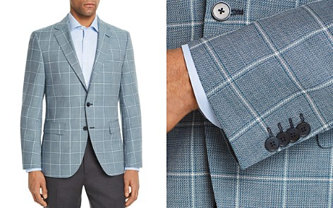 BOSS Jewels Regular Fit Tonal Basket Weave Windowpane Sport Coat - Bloomingdale's_2