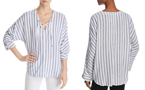 Rails Lily Lace-Up Striped Top - 100% Exclusive - Bloomingdale's_2