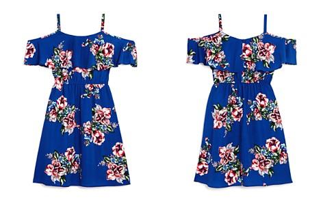 AQUA Girls' Floral-Print Cold-Shoulder Dress, Big Kid - 100% Exclusive - Bloomingdale's_2