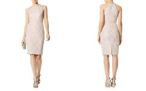 KAREN MILLEN Metallic Lace Sheath Dress - Bloomingdale's_2