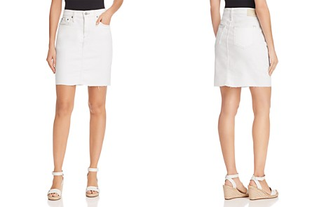 AG Erin Denim Skirt in 1 Year Neutral White - Bloomingdale's_2