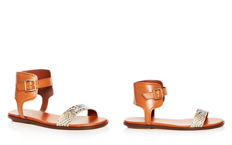 Cole Haan Women's Barra Snake Embossed Leather Ankle Strap Sandals - Bloomingdale's_2