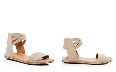 Gentle Souls Women's Lark-May Perforated Suede Ankle Strap Demi Wedge Sandals - Bloomingdale's_2