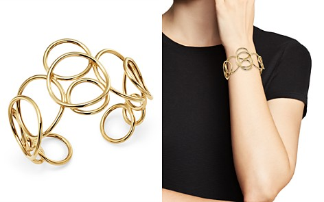 Bloomingdale's Polished Circle Link Cuff in 14K Yellow Gold - 100% Exclusive _2