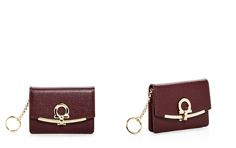 Salvatore Ferragamo Leather Card & Key Case - Bloomingdale's_2