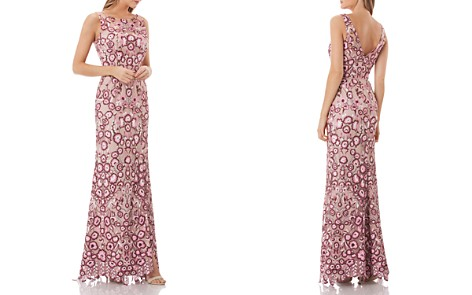 JS Collections Floral Embroidered Gown - Bloomingdale's_2