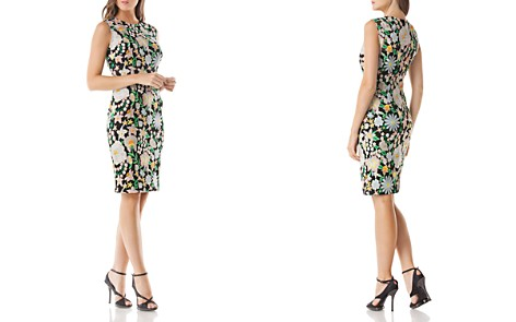 Carmen Marc Valvo Infusion Floral Embroidered Dress - Bloomingdale's_2