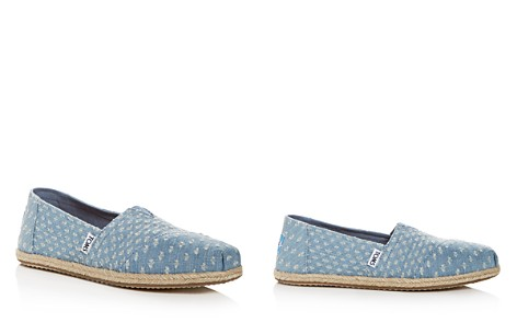 TOMS Women's Distressed Denim Alpargata Espadrille Flats - Bloomingdale's_2