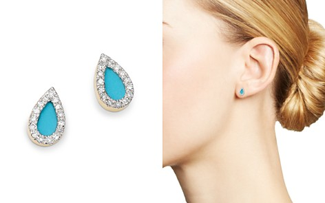 Adina Reyter 14K Yellow Gold Turquoise & Diamond Teardrop Stud Earrings - Bloomingdale's_2