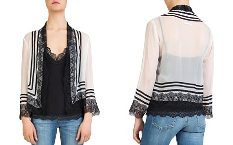 The Kooples Open-Front Lace-Detail Silk Top - Bloomingdale's_2