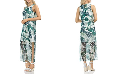 VINCE CAMUTO Jungle Palm Overlay Maxi Dress - Bloomingdale's_2