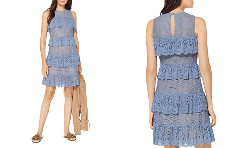 MICHAEL Michael Kors Scalloped Ruffle Lace Dress - Bloomingdale's_2