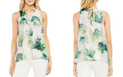 VINCE CAMUTO Sunlit Palm Sleeveless Blouse - Bloomingdale's_2