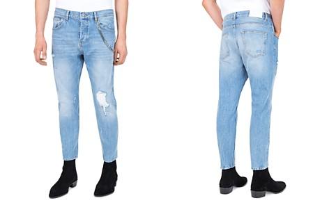 The Kooples Short Drop Slim Fit Jeans in Blue - Bloomingdale's_2