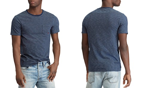 Polo Ralph Lauren Indigo Stripe Custom Slim Fit Tee - Bloomingdale's_2